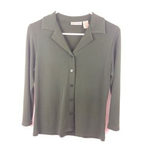 Blouse Apostrophe Women's XS Green